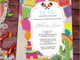 Mexican Party Invitation Template Baby Shower Fiesta Mexican themed Baby Shower Invitation
