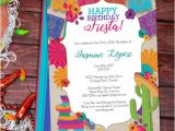 Mexican Party Invitation Template Birthday Fiesta Mexican Style Party Invitation Template Etsy