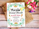 Mexican themed Bridal Shower Invitations Fiesta Bridal Shower Invitation Mexican Bridal Shower