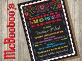 Mexican themed Bridal Shower Invitations Mexican Bridal Shower Fiesta Invitation with Scalloped