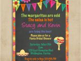 Mexican themed Bridal Shower Invitations Mexican Fiesta Bridal Shower Invitation Chalkboard and