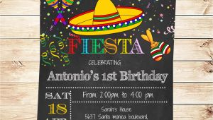 Mexican themed Party Invitations Birthday Mexican Fiesta Party Invitations Printable