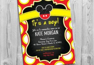 Mickey Mouse Baby Shower Invitations for A Boy Mickey Mouse Baby Shower Invitations Boy Baby Shower