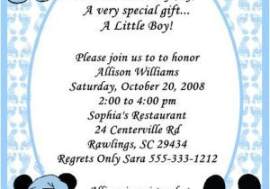 Mickey Mouse Baby Shower Invitations for A Boy Mickey Mouse Baby Shower Invitations for Boys Party Xyz