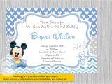 Mickey Mouse Baptism Invitations Baby Mickey Mouse Christening Invitations Baby Mickey Baptism