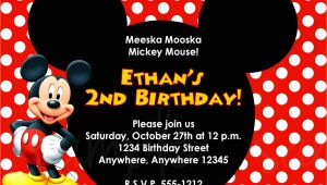 Mickey Mouse Birthday Invitation Template Mickey Mouse Birthday Invitation