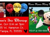 Mickey Mouse Clubhouse Custom Birthday Invitations 10 Magnetic Mickey Mouse Clubhouse Birthday Invitations