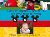 Mickey Mouse Clubhouse Custom Birthday Invitations Mickey Mouse Clubhouse Personalized Invitation by