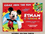Mickey Mouse Clubhouse Custom Birthday Invitations Party Invitations Disney Mickey Mouse Clubhouse Party