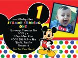 Mickey Mouse Customized Birthday Invitations Free Printable 1st Mickey Mouse Birthday Invitations