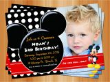 Mickey Mouse Customized Birthday Invitations Mickey Mouse Birthday Invitation Printable Birthday Party
