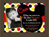 Mickey Mouse Customized Birthday Invitations Mickey Mouse Birthday Invitations Personalized
