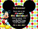 Mickey Mouse Party Invitation Template Birthday Invitation Mickey Mouse