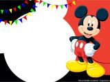 Mickey Mouse Party Invitation Template Free Printable Cute Mickey Mouse Invitation Templates