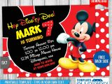 Mickey Mouse Party Invitation Template Mickey Mouse Birthday Invitation 4 by Templatemansion On