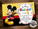 Mickey Mouse Party Invitation Template Mickey Mouse Invitation Template 23 Free Psd Vector