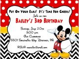 Mickey Mouse Party Invitation Template Mickey Mouse Invitation Templates 29 Free Psd Vector