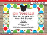 Mickey Mouse Party Invitation Template Mickey Mouse Party Invitations Template Birthday Party
