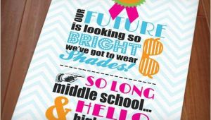Middle School Graduation Invitations 80 39 S Bright Shades Graduation Party Printable Invitation
