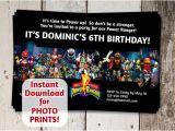 Mighty Morphin Power Ranger Birthday Invitations Mighty Morphin Power Rangers Birthday Party by