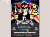 Mighty Morphin Power Ranger Birthday Invitations Power Rangers Mighty Morphin Birthday Party Card Digital