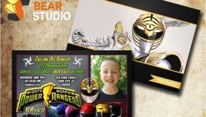 Mighty Morphin Power Ranger Birthday Invitations Printable Mighty Morphin Power Rangers Birthday