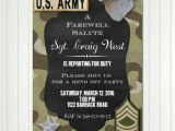Military Going Away Party Invitation Templates Army Invitation Deployment Party Send Off Invitation
