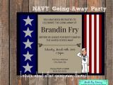 Military Going Away Party Invitation Templates Military Going Away Party Navy Farewell Invitation