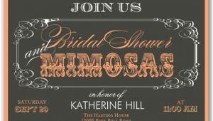 Mimosa Bridal Shower Invitations Mimosas Script Bridal Shower Invitations