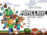 Minecraft Party Invitation Template 41 Printable Birthday Party Cards Invitations for Kids