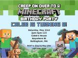 Minecraft Party Invitation Template 71 Printable Birthday Invitation Templates Word Psd