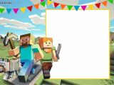 Minecraft Party Invitation Template Free Printable Minecraft Birthday Invitation Template