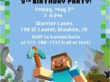 Minecraft Party Invitations Printable 40th Birthday Ideas Free Printable Minecraft Birthday