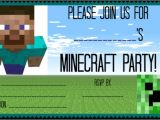 Minecraft Party Invitations Printable Great Ideas for A Minecraft Birthday Party Mom 6