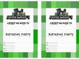 Minecraft Party Invitations Printable Minecraft Birthday Invitations – Birthday Printable