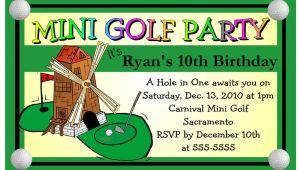 Miniature Golf Birthday Party Invitations Mini Golf Miniature Golf Birthday Party Invitations Ebay