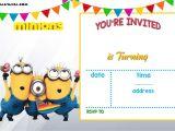 Minion Birthday Party Invitations Templates Free Printable Minion Birthday Invitation Templates