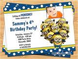 Minion Birthday Party Invitations Templates Minion Birthday Party Invitations Ideas Drevio