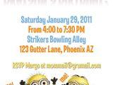 Minion Birthday Party Invitations Templates Minion Invitation Card Template Party Invitations Ideas