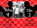 Minnie and Mickey Mouse Party Invitations Free Minnie and Mickey Birthday Invitations Printable
