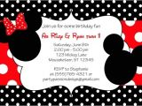Minnie and Mickey Mouse Party Invitations Mickey and Minnie Invitations Template