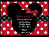 Minnie and Mickey Mouse Party Invitations Minnie Mouse Party Red On Pinterest