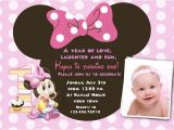 Minnie Mouse 1st Birthday Invitations Templates Free Download Minnie Mouse 1st Birthday Invitations