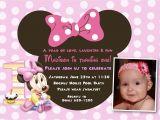 Minnie Mouse 1st Birthday Invitations Templates Minnie Mouse 1st Birthday Invitations