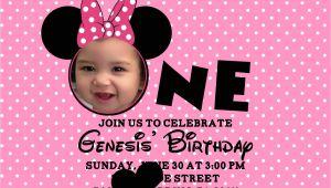 Minnie Mouse 1st Birthday Invitations Templates Minnie Mouse Birthday Invitations Personalized – Bagvania