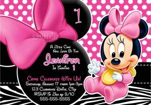 Minnie Mouse 1st Birthday Photo Invitations Huge Selection Baby Minnie Mouse Invitation by