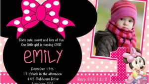 Minnie Mouse 2nd Birthday Invitation Wording Minnie Mouse 2nd Birthday Party Invitation Wording