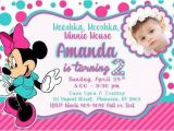 Minnie Mouse 2nd Birthday Invitations Template Minnie Mouse 1st Birthday Invitations Template Birthday