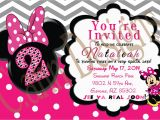 Minnie Mouse 2nd Birthday Invitations Template Minnie Mouse 2nd Birthday Invitations