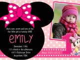 Minnie Mouse 2nd Birthday Invitations Template Minnie Mouse 2nd Birthday Party Invitation Wording Free